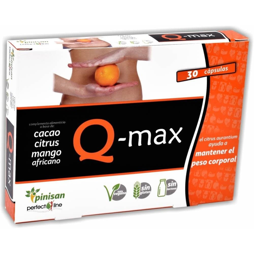 Q-Max (line Perfec) 30 Cápsulas de Pinisan  8435001000728 Quemagrasas y similares salud.bio