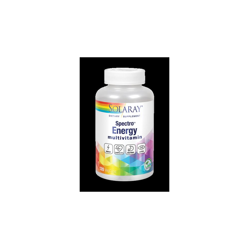 Spectro Energy 120 Caps. mult-vitam-mineral vegano de solaray SOLARAY 26202 Vitaminas y Minerales salud.bio