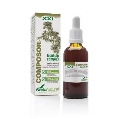 Composor 25 Lepidium complex de Soria Natural  041002946 Bienestar urinario. Ayuda en el bienestar urinario. salud.bio