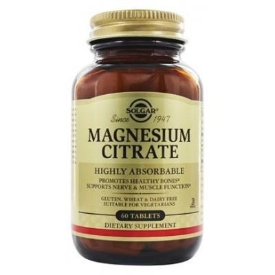 Citrato de Magnesio en Comprimidos de Solgar SOLGAR  Suplementos Minerales  salud.bio