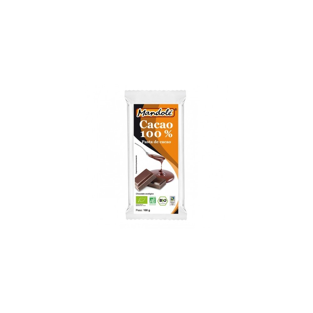 Cacao BIO 100% (pasta de cacao) en tableta 100 grs de Mandolé Mandolé 3505052899 Alimentación salud.bio