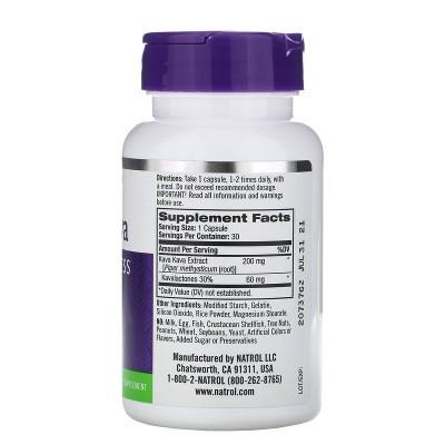Kava Kava, 200 mg, 30 cápsulas de Natrol Natrol NTL-00949 Estados emocionales, ansiedad, estrés, depresión, relax salud.bio
