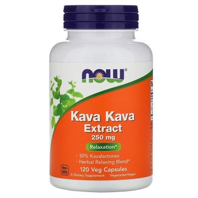 Extracto de Kava Kava, 250 mg, 120 cápsulas vegetales de Now Foods now suplementos NOW-04717 Estados emocionales, ansiedad, e...