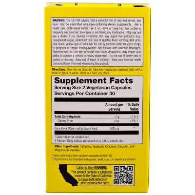 Kava Kava White Root, 450 mg, 60 Vegetarian Capsules de Natural Balance now suplementos NTB-13754 Estados emocionales, ansied...