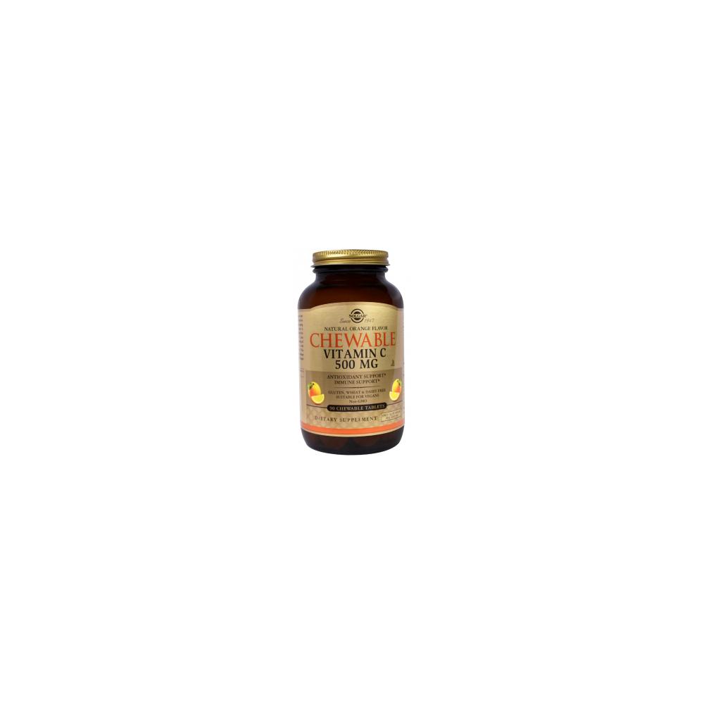 Vitamina C 500 Mg comprimidos masticables sabor naranja de Solgar SOLGAR 070407 Vitamina C salud.bio