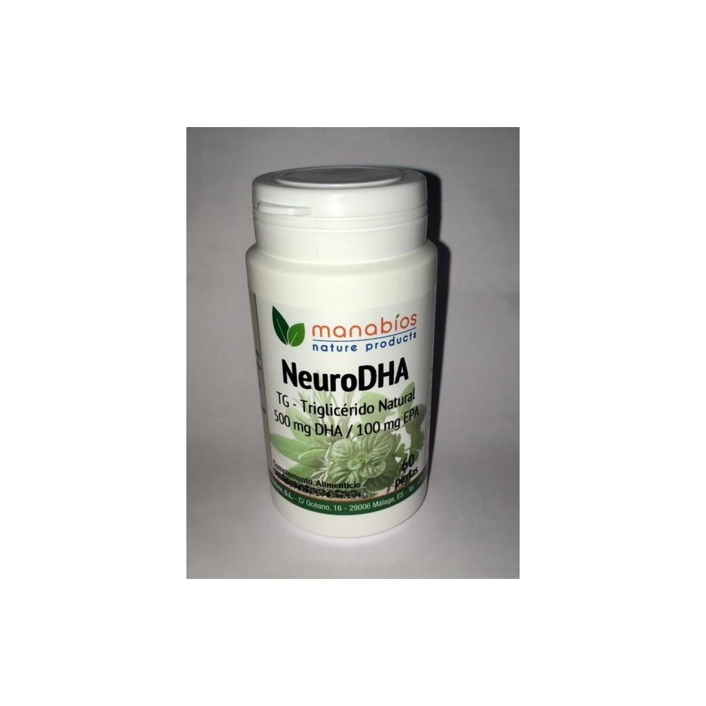 Neuro DHA 50% TG perlas 1000mg de Manabíos Manabios 111639 Complementos Alimenticios (Suplementos nutricionales) salud.bio