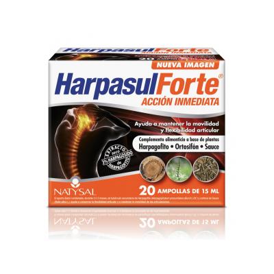 Harpasul Forte 20 Ampollas de Natysal Natysal 0220018181 Articulaciones, Huesos, Tendones y Musculos, componen el Aparato Loc...