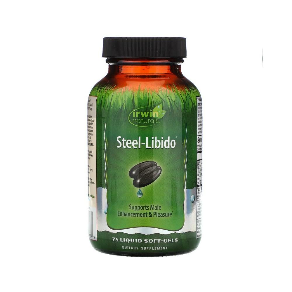 Steel Libido, 75 Pastillas Blandas de Gel Líquidas de Irwin Naturals Irwin Naturals IRW-26238 Salud Sexual y Fertilidad salud...