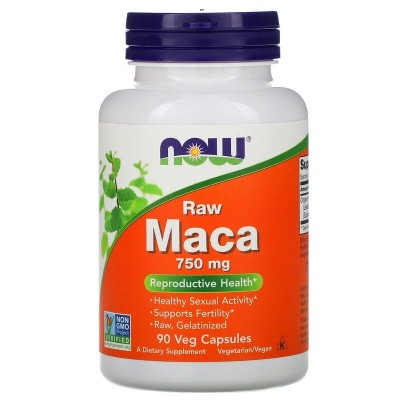 Maca, Raw, 750 mg, 90 Veg Capsules de Now Foods Manabios NOW-04777 Salud Sexual y Fertilidad salud.bio