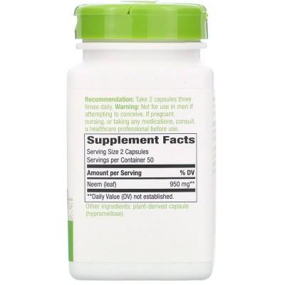 Neem Leaf, 950 mg, 100 Vegan Capsules de Nature's Way Nature`s Way NWY-15120 Ayudas aparato Digestivo salud.bio