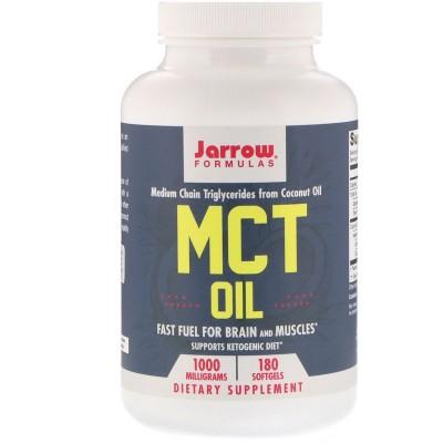 MCT Oil, 1,000 mg, 180 Softgels (Perlas), de Jarrow Formulas Jarrow Formula JRW-16057 Suplementos Deportivos (Complementos Al...