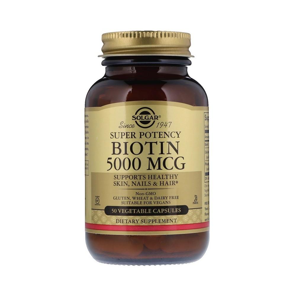 Biotina 5000 mcg (Biotin) de Solgar SOLGAR  Vitaminas y Minerales salud.bio