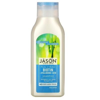 Pure Natural Shampoo, restaurador de Biotina, 16 fl oz (473 ml) de Jason Natural JĀSÖN JAS-07005 Jabones y Geles Naturales sa...