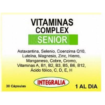 Vitaminas Complex Senior 30 Capsulas de Integralia INTEGRALIA 467  salud.bio