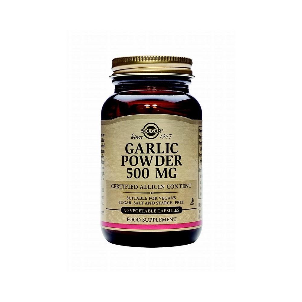 Ajo en polvo de cultivo controlado 500 mg. Organic Garlic de Solgar SOLGAR 171197 Sistema circulatorio salud.bio