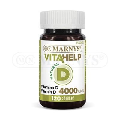 Vitamina D 120 perlas 4000 iU Línea VITAHELP de Marnys Marnys MN806 Antioxidantes salud.bio