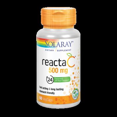 Reacta C™ 500 mg-60 comprimidos. Apto para veganos de Kal SOLARAY 4376 Vitamina C salud.bio