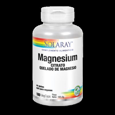 Big Magnesium Citrate - 180 VegCaps. Sin gluten. Apto para veganos de Solaray SOLARAY 37402 Articulaciones, Huesos, Tendones ...