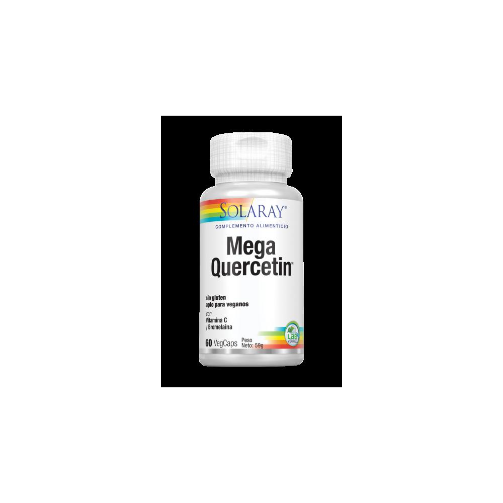 Mega Quercetin™ 60 VegCaps. Sin gluten Apto para veganos de Solaray SOLARAY 44686 Sistema respiratório salud.bio