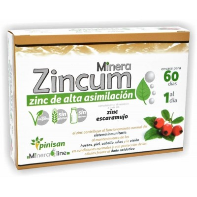 Minera Zincum de Pinisan SOLARAY 106.00160 Sistema inmunitario salud.bio
