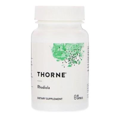 Rhodiola, 60 cápsulas veganas de Thorne Research Thorne Research THR-75502 Estados emocionales, ansiedad, estrés, depresión, ...
