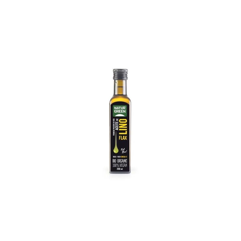Aceite de Lino Eco Naturgreen 250 Ml. Naturgreen 0290001211 Alimentación salud.bio