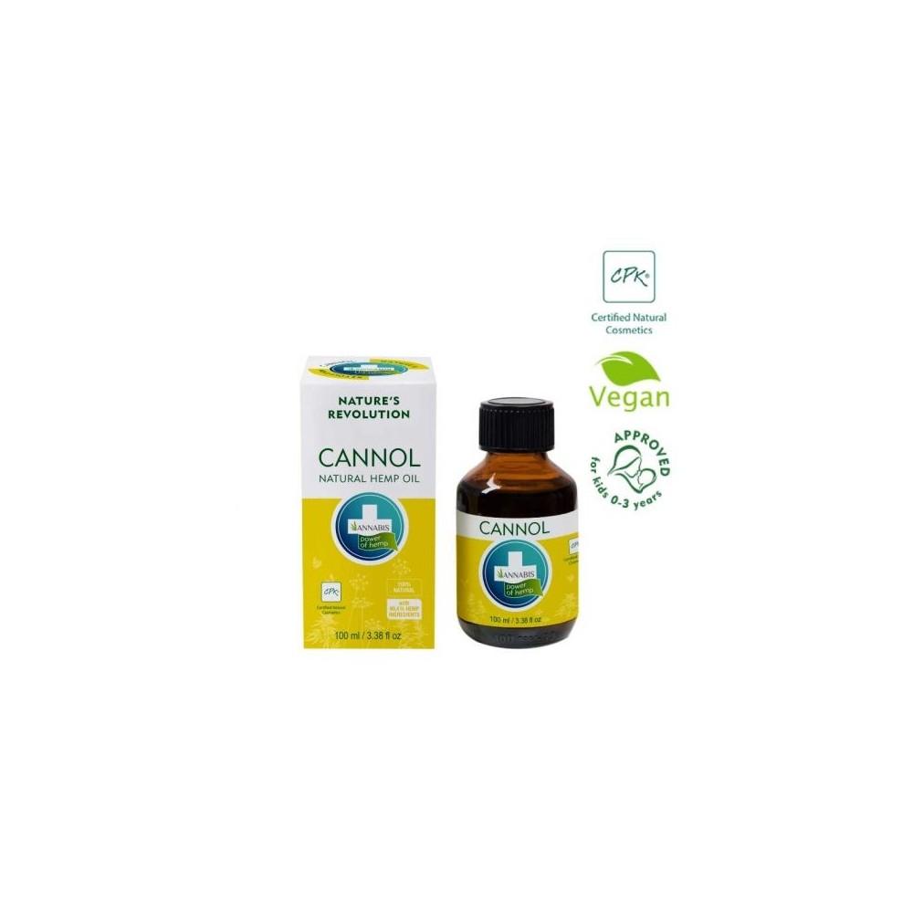 CANNOL – Aceite de Cáñamo Hidratante Multiusos Masaje, Baño y Cabello de Annabis Annabis productos Naturales  2010-100 Cosmét...