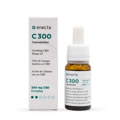 C300 Aceite de Cañamo rico en CBD SUAVE 10ml de enecta enecta C300 Estractos y tinturas  salud.bio