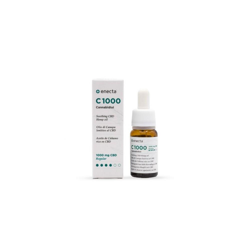 C1000 Aceite de Cañamo rico en CBD MEDIO 10ml de enecta enecta C1000 Estractos y tinturas  salud.bio