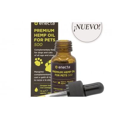 PREMIUM HEMP OIL for Pets 500 – Aceite de Cáñamo para mascotas 500 mg, de enecta enecta 1001 Estractos y tinturas  salud.bio