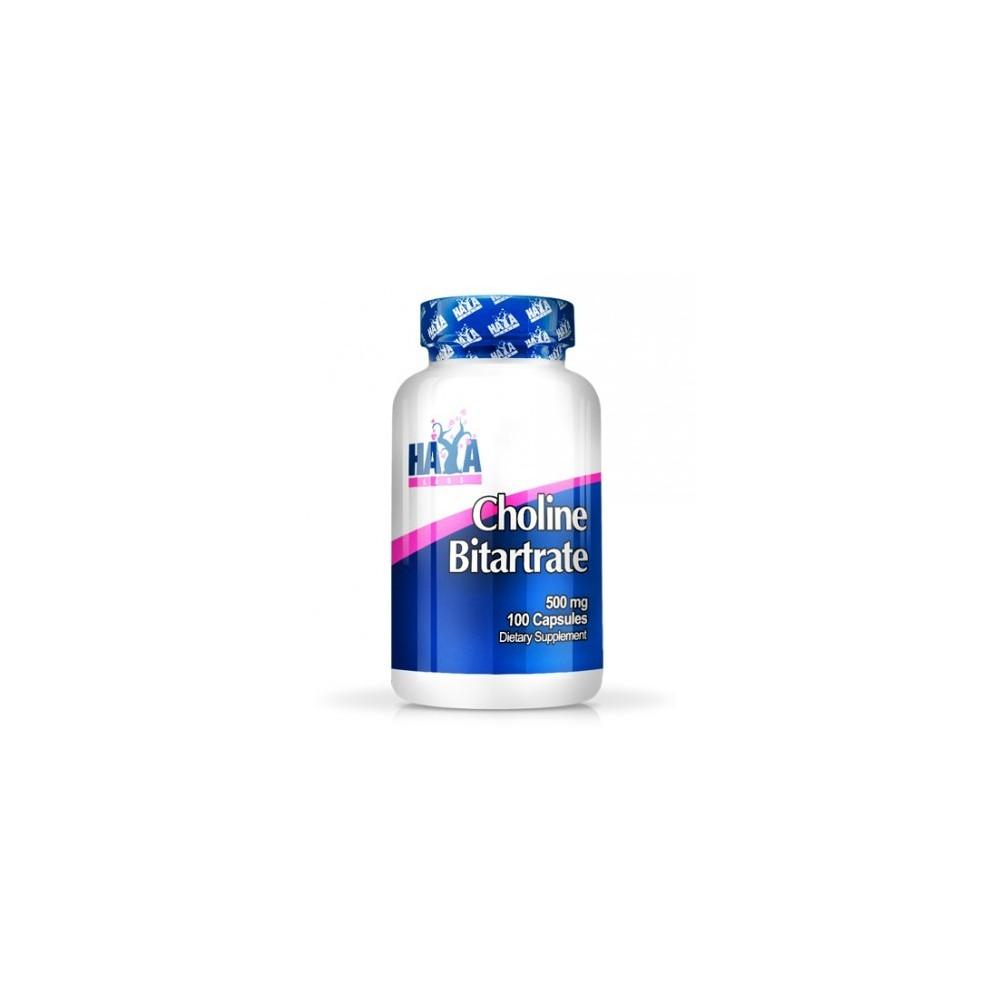 Colina Bitartrato (Choline) 500mg - 100 Caps. de Haya labs Haya Labs LLC 15663 Vitamina B salud.bio