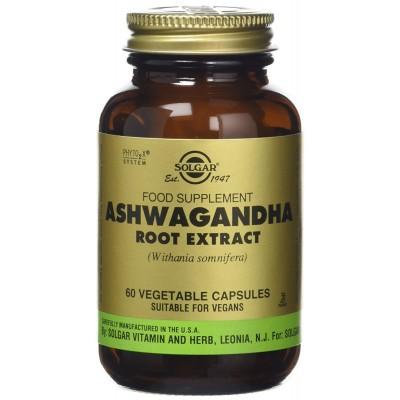 Ashwagandha 60 Cápsulas de Solgar SOLGAR 184104 Estados emocionales, ansiedad, estrés, depresión, relax salud.bio