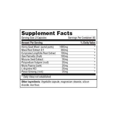 Horny Goat Weed 1,000mg. - 120 Tabs. de Haya labs Haya Labs LLC 14775 Libido hombre y mujer salud.bio
