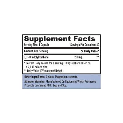 DIM Di-indolyl Methane (estrogen control) 200mg. 60 Cápsulas de Haya labs Haya Labs LLC 15527 Libido hombre y mujer salud.bio