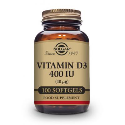 VITAMINA D3 400 UI (10mcg 400iu) 100 Perlas de SOLGAR SOLGAR 33320 Vitamina A y D salud.bio