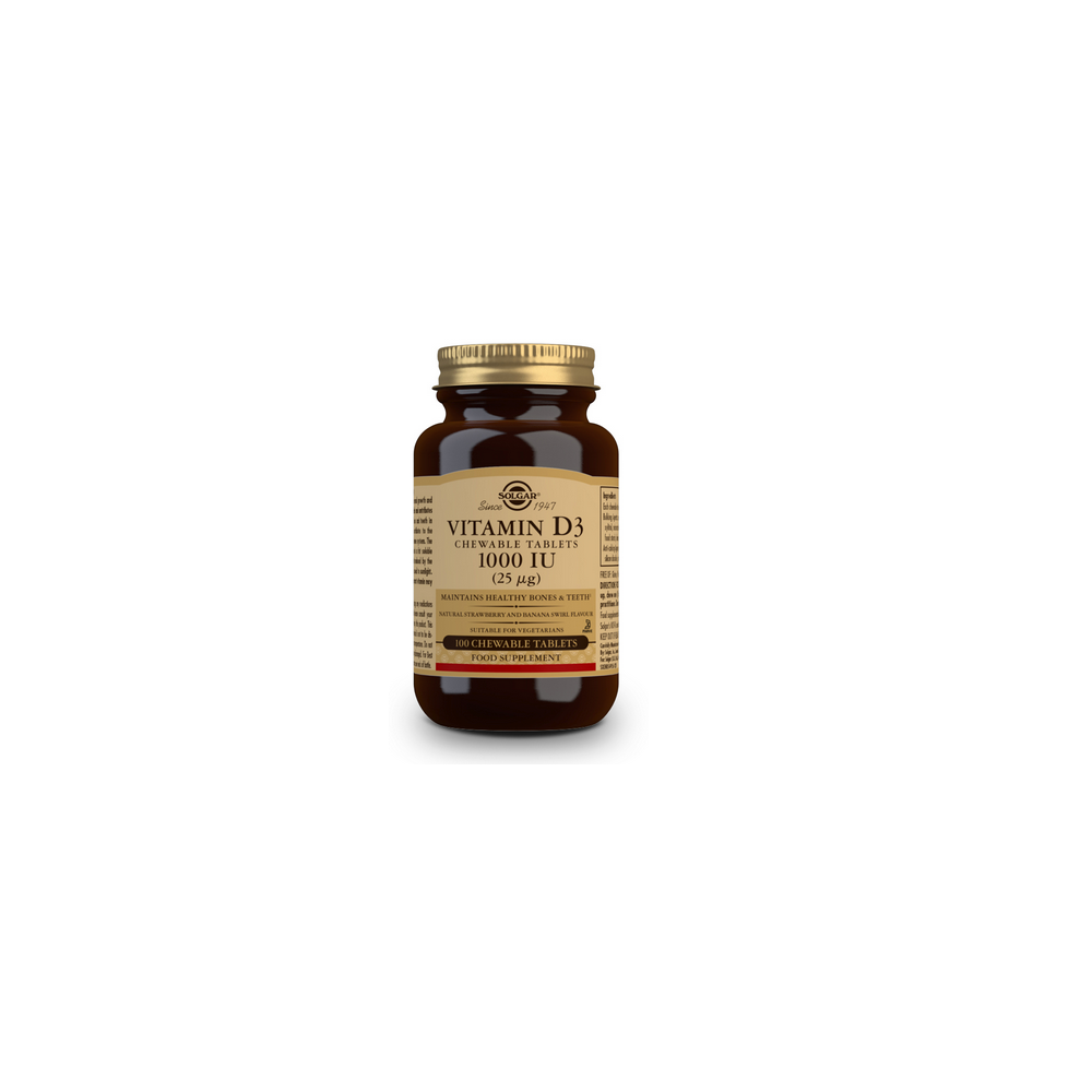 Vitamina D3 1000 UI (25mcg.) 100 comp. de Solgar SOLGAR 54956 Vitamina A y D salud.bio