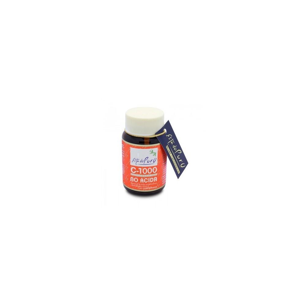 Vitamina C-1000 No Acida 100 comp Estado Puro de Tongil Tongil (Estado Puro) M26 Vitamina C salud.bio