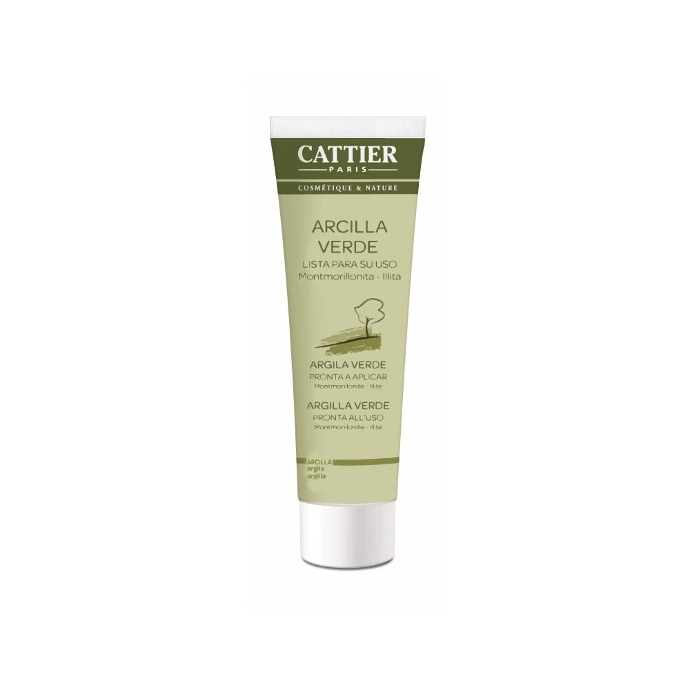 CATTIER Arcilla Verde 400g lista para usar Cattier CAT008 Cosmética Natural salud.bio