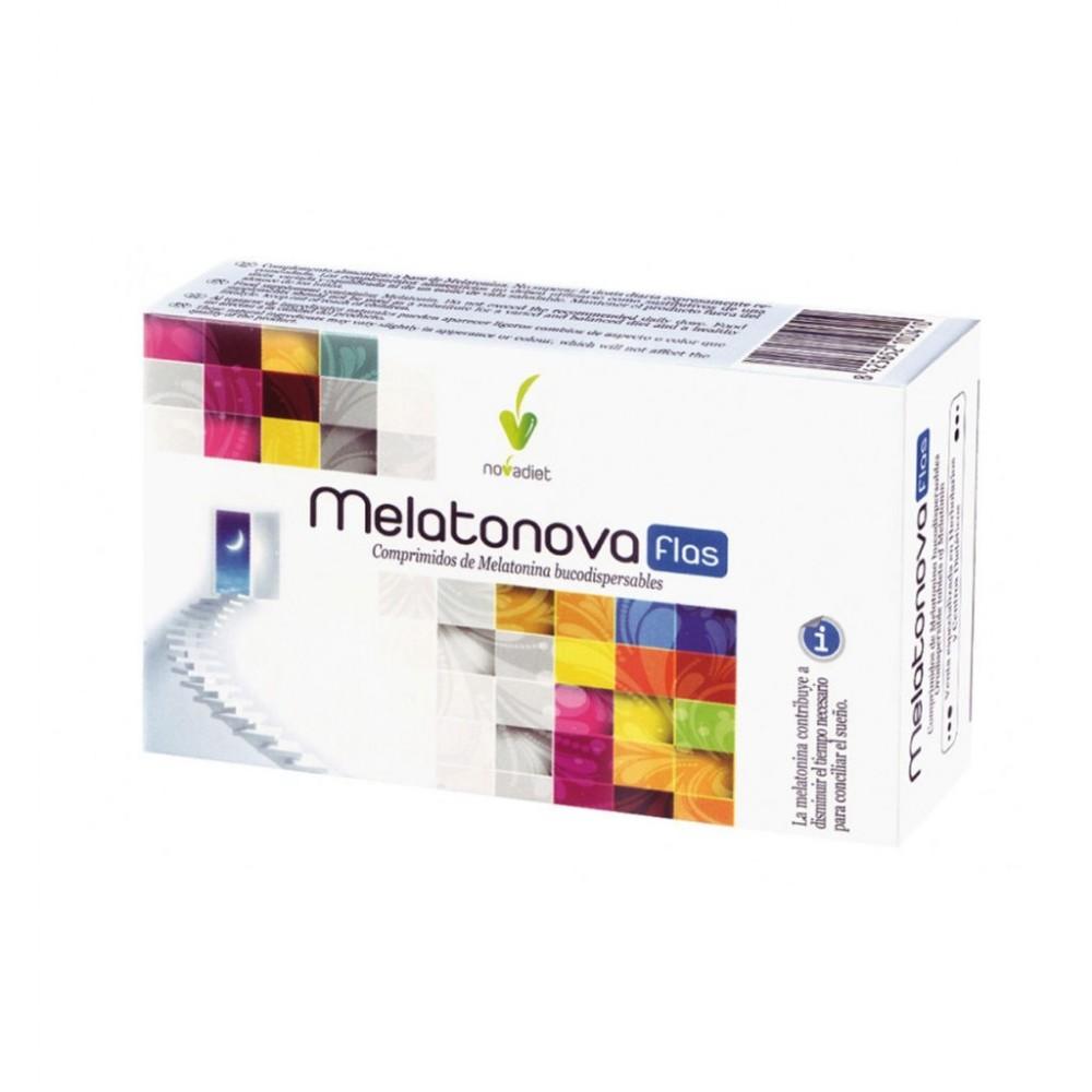 Pack Melatonova flas Melatonina de 1.9mg de Novadiet Novadiet 10044 insomnio y descanso salud.bio