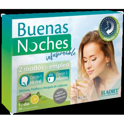 Buenas Noches Infusionable de Eladiet ELADIET Elaborados Dieteticos, s.a. PA.SUE.BNI insomnio y descanso salud.bio
