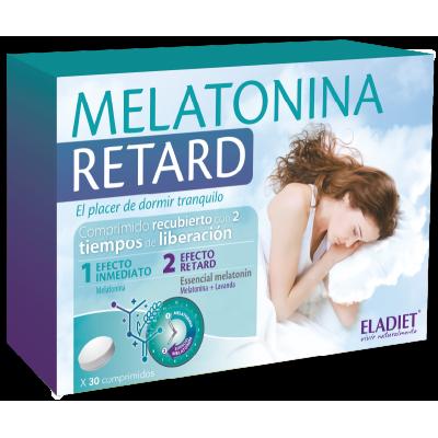 Melatonina Retard 30 comp. de Eladiet ELADIET Elaborados Dieteticos, s.a. PA.SUE.MES insomnio y descanso salud.bio