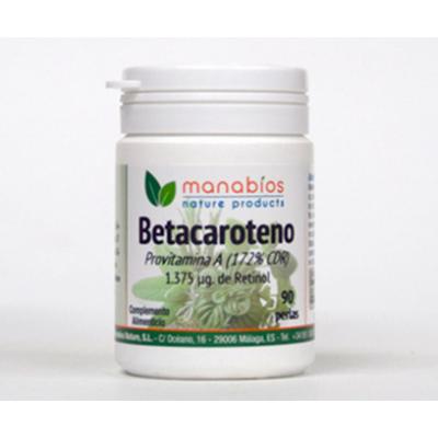 Betacaroteno 90 perlas 1.375µg de retinol de Manabios SOLGAR 111674 Antioxidantes salud.bio