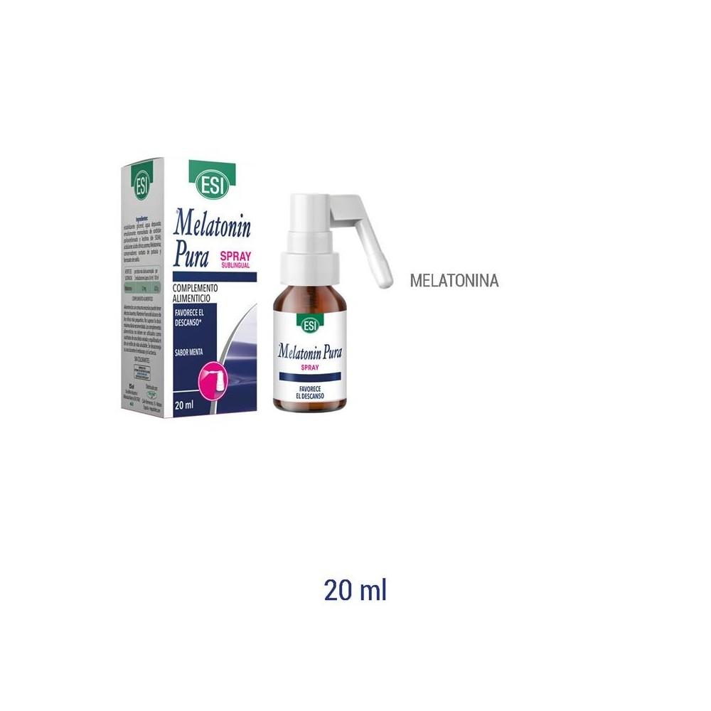 Melatonin pura Spray 1 mg (20ML) de ESI ESI LABORATORIOS 19011020 insomnio y descanso salud.bio