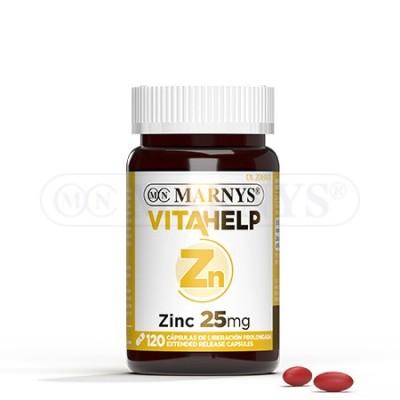 Zinc 25 mg Línea VITAHELP de Marnys Marnys MN808 Vitaminas y Minerales salud.bio