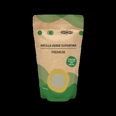 Arcilla Verde Superfina Premium de Sakai Sakai laboratorios 4177 Cosmética Natural salud.bio