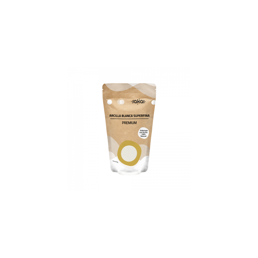 Arcilla Blanca Superfina Premium de Sakai Sakai laboratorios 8423245230193 Cosmética Natural salud.bio