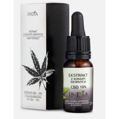 Extracto de CBD 10% 10ml de India lab India Labs Cosmetic and Dood  5903707352050 Plantas Medicinales salud.bio