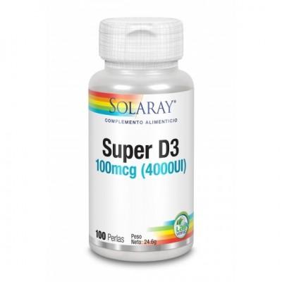 Super D3 - 4000 UI - 100 Perlas de solaray SOLARAY 31647 Vitaminas y Minerales salud.bio