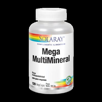 Mega multi mineral -120 VegCaps. Apto para veganos de solaray SOLARAY 4510 Vitaminas y Minerales salud.bio