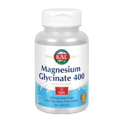 Magnesium Glycinate 400 mg- 90 comprimidos de Solaray SOLARAY 81109 Sistema inmunitario salud.bio
